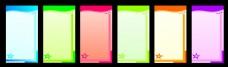 彩色背景矢量素材