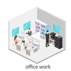 白色办公室图片