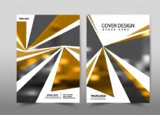 黄色和黑色三角形传单图片