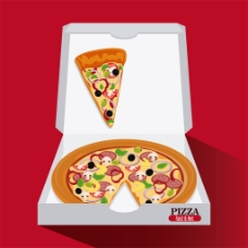 白色盒子的披萨图片