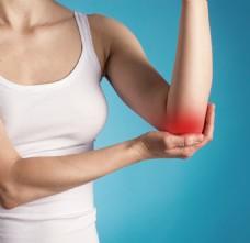 女性肘关节疼痛图片