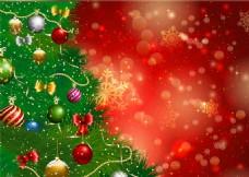 圣誕樹光暈背景矢量素材