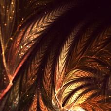 树叶装饰画
