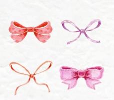 水彩蝴蝶结