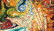 玻璃晶格油画