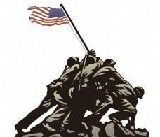 美国士兵雕塑