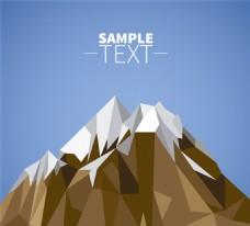 抽象雪山设计矢量图