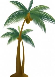 椰树矢量素材