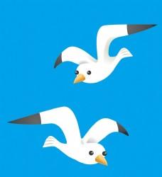 卡通海鸥矢量素材