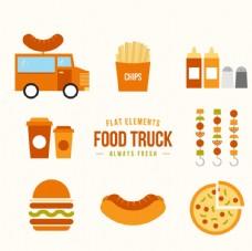 食品的卡车