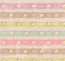 做舊條紋花朵無縫背景