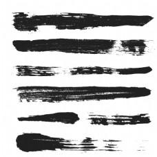 黑色手繪筆觸