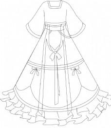 服装设计 礼服款式图 婚纱款式