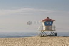 大海,蓝天,沙滩,度假,度假,救生员,海浪,安全,规则