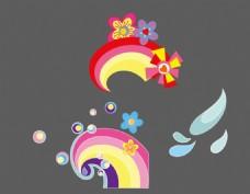 卡通花朵素材 卡通圆圈