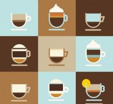 简约咖啡杯素材包