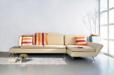 米色沙发背景墙