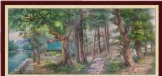 大树风景背景墙装饰画