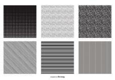 无缝的黑白矢量模式