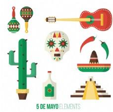 传统的墨西哥对象