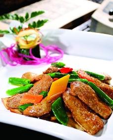 百灵菇炒鹅肝图片