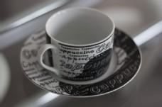 花纹陶瓷咖啡杯图片