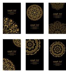民族花紋卡片