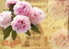 复古花朵背景墙