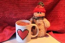 高清咖啡杯与玩具图片
