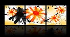 花卉无框画模板下载