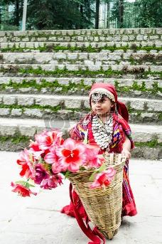 鲜花花卉服装婴儿