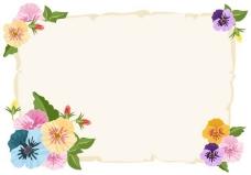三色堇的颜色模式的背景