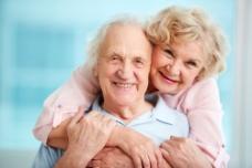 幸福的一对老夫妻图片