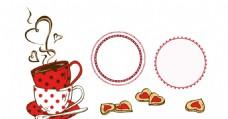 咖啡杯 心形圆圈