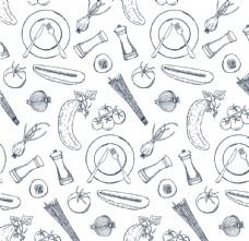 水果蔬菜盘子底纹背景