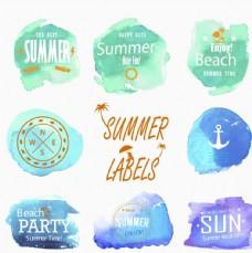 水彩夏季主题